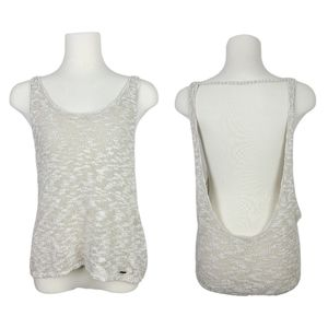 4/$30 Garage Low Back Knit Sweater Tank Top XS